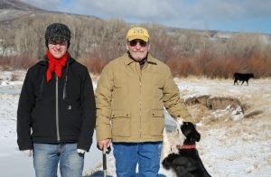 Eamon, Pat, Sadie and bull calf on Battle Creek
