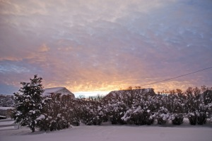 Sunset, December 29, 2012