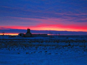 not the Northern Lights, but sunrise near Selfoss