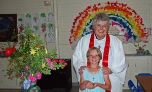 Siobhan and Linda, flowers