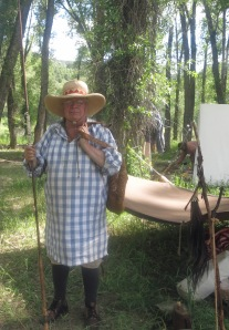 Don Pablo with period fishing gear.  He gave lessons along the Little Snake.
