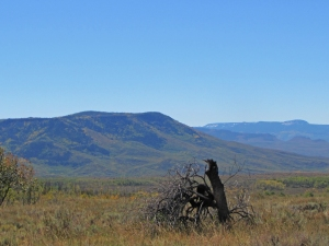 Battle Mountain from the government corrals, Savery Stock Driveway, Medicine Bow National Forest