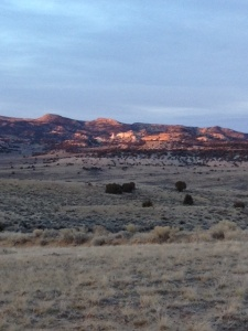 Castle Rock at sunset Sweetwater County, Wyoming