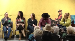 Meghan and the young ranchers' panel