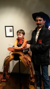 Horseman Torran Duncan with Dad, saddlemaker and rancher Keith Duncan.