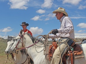Cody and Mike, ready to rope calves