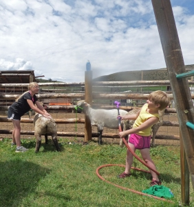 Maeve controls the hose!