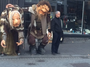Our friend Bob hanging out with the locals in Reykjavik.