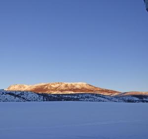 Battle Mountain New Year's sunrise