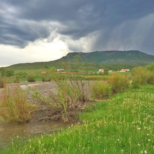 spring rains over Battle Mountain