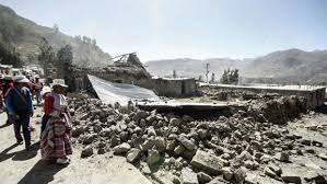 Yanque, Peru--post earthquake