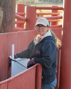 Meghan at the cutting gate