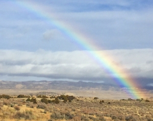 Rainbow over Powder Rim