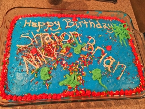 January cake for Sharon, our neighbor Nikki, and Brian